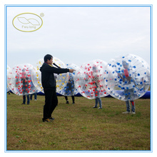 Hot sale and CE certificate PVC/TPU LED bubble soccer bumper ball usa