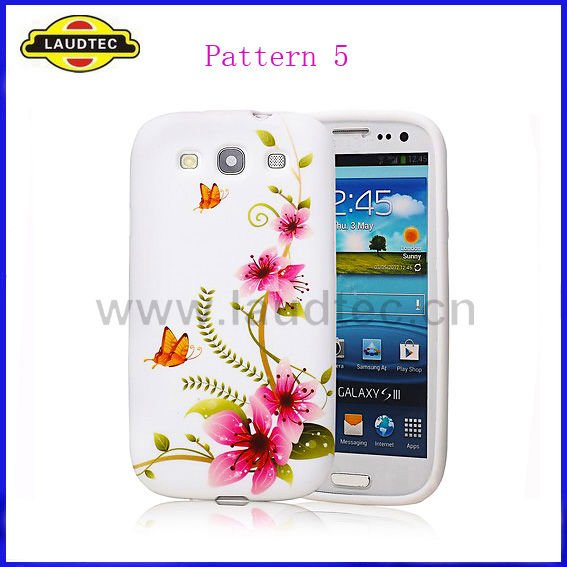 Beautiful Flower Design TPU Gel Case for Samsung Galaxy S3 i9300, Back Cover Laudtec