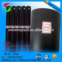 1.2mm1.5mm2mm best price and best quality epdm rubber waterproof membrane for basement
