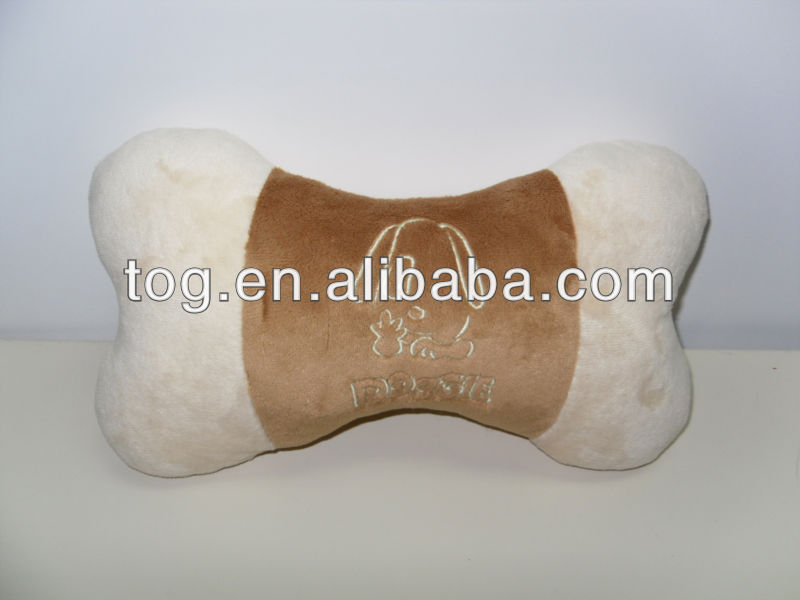 Wholesale Plush Toy Durable Dog Bones Puppy Pet Chewing Interactive Play Training Doll