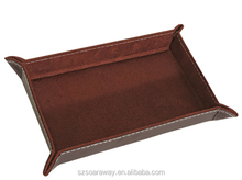 Supply China Desk Leather Storage Tray for Keys and Coin