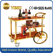Stainless Steel Hotel wine serving cart hotel trolley liquor cart
