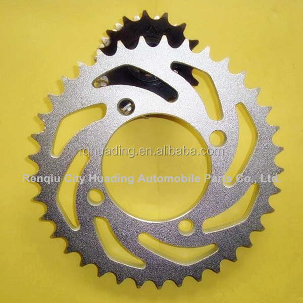 Hot sale big and small motorcycle sprockets with ISO standard sprockets