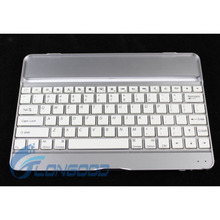 Metal Aluminum bluetooth wireless keyboard case for iPad Air,for iPad5