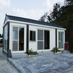 New Cost-saving Portable Prefab wooden house portable office transportable container drawing