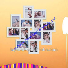 2012 Supply 12-opening Wooden Wall White Collage Photo Picture Frame Wall Art Holds Six 4-by-6-inch and Six 6-by-4-inch Photos