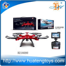 2.4G 4CH 6 Axis gyro WIFI RC drone quadcopter with LED light and 0.3MP Camera by Smart phone