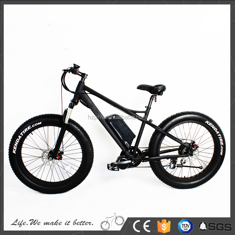 2017 high quality 48V1000W middle drive motor fat tire electric bike for wholesale