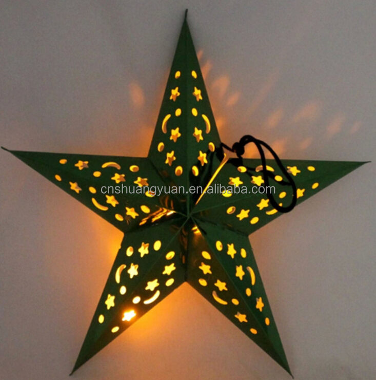 LED Christmas paper star light hanging decoration wholesale