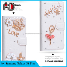Cartoon DIY Customer Design Flip Leather Wallet Stand case for Galaxy S8 Plus G955