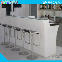Colorful waterproof plastic nightclub furniture led corner bar counter sets