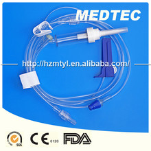 needleless IV administration set with extension set EO gas sterile