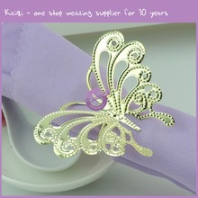 HS00890 wholesale bulk hot selling butterfly design gold wedding napkin ring
