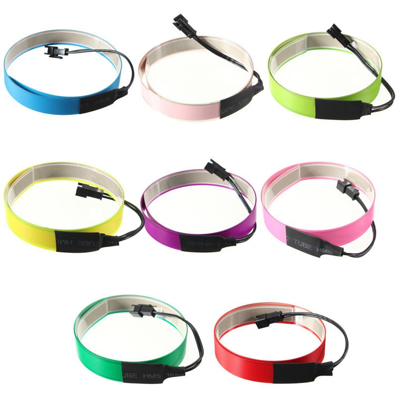 Hot ! Custom length 1 year warranty super bright cuttable el tape/el strip/ el ribbon