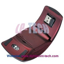 2012 promotional 1000DPI arc wireless foldable mouse for gift