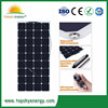 Backside connection 100W flexible solar panel for solar powered fishing boat