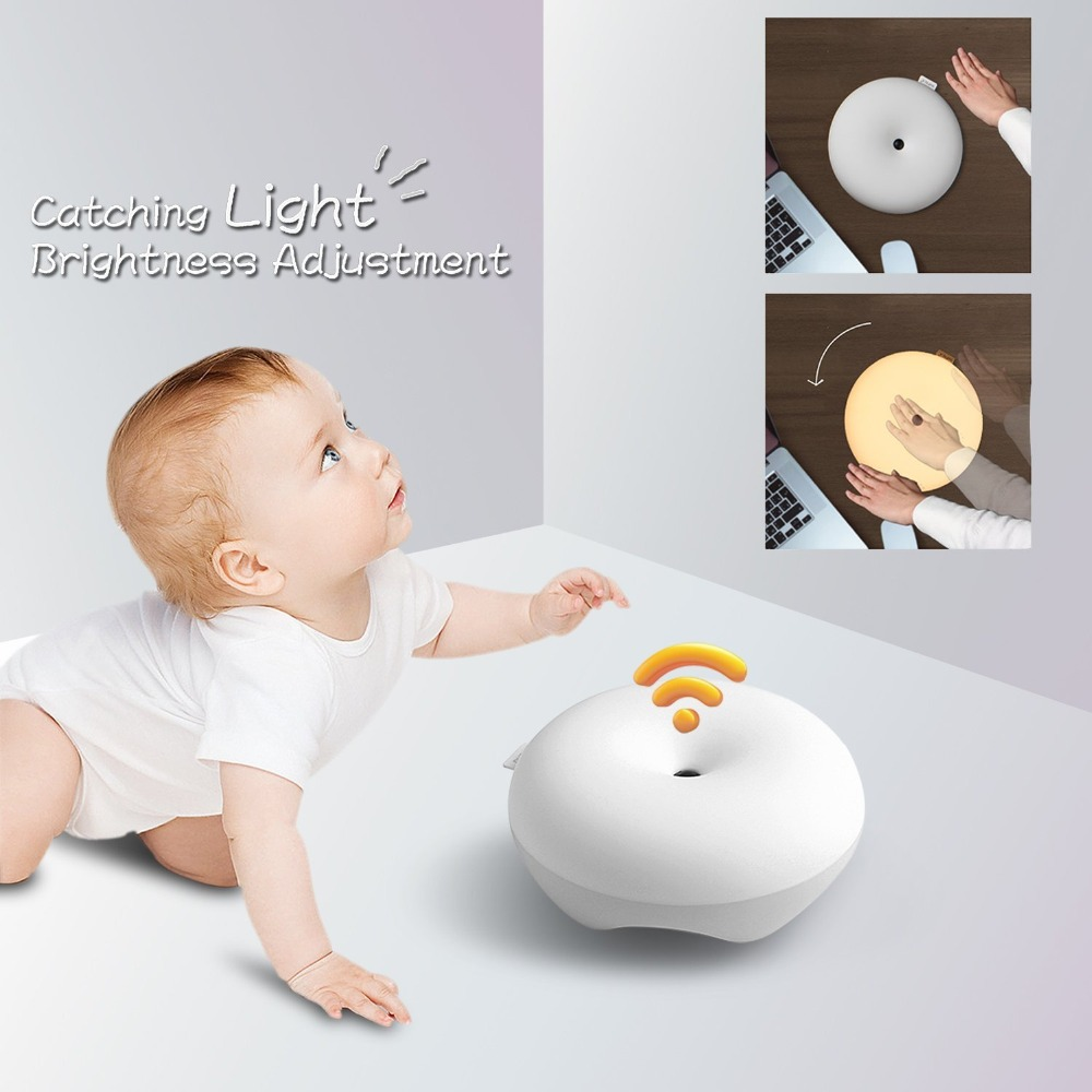 2017 Portable LED Night Light Control Auto Sensor Baby Bedroom Lamp
