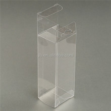 small clear pvc plastic tuck top box retail display packaging