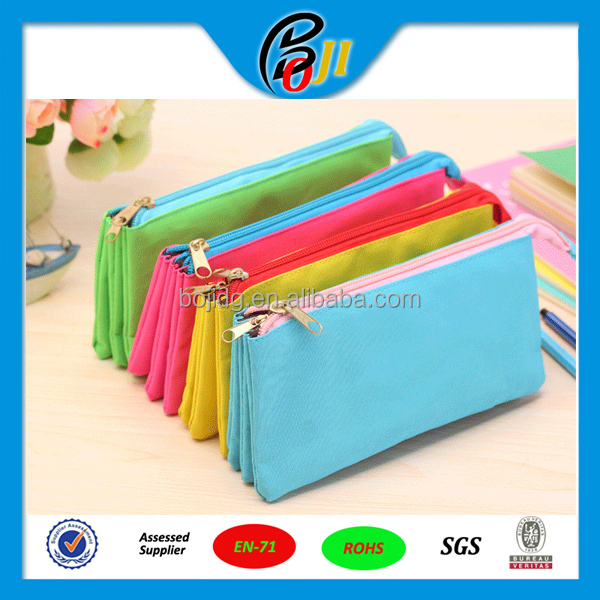 2016 Hot Selling Wholesale Canvas Pencil Case For teenagers