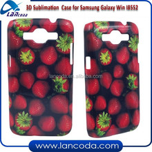 christmas gift blank sublimation 3d case for Samsung Galaxy Win I8552 mobile phone cover