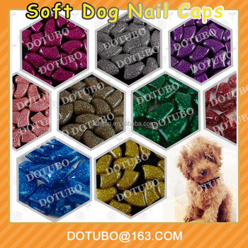 New sparkle dog nail cap Soft Claws Nail Cap Paw Caps Pet Nail Cover claw grooming control with adhesive