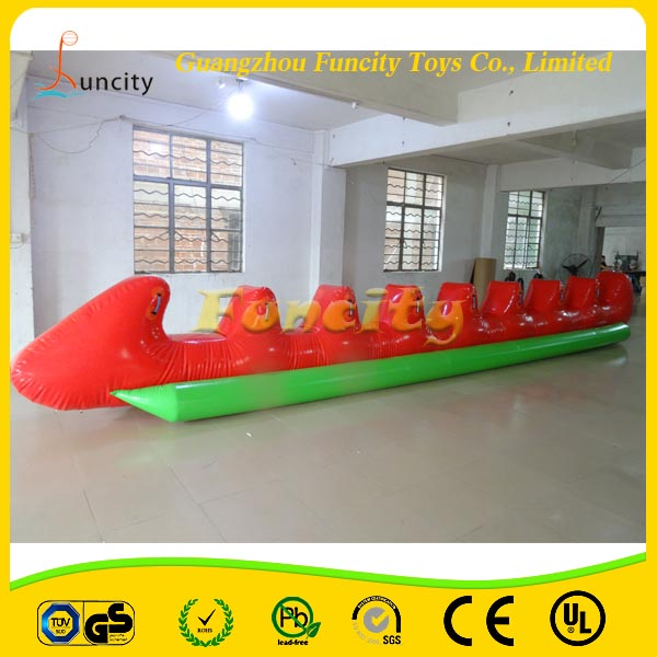High Quality PVC Tarpaulin Inflatable Dragon Boat/Inflatable Towable Boat/Inflatable Flying Fish For Water Sport Game