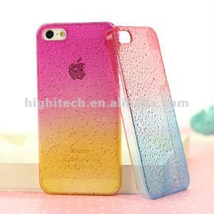 3D Rain Drop Design Hard Case Cover for iphone 5