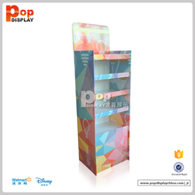 Cosmetic & make up paper shelf display stand for chain store retail