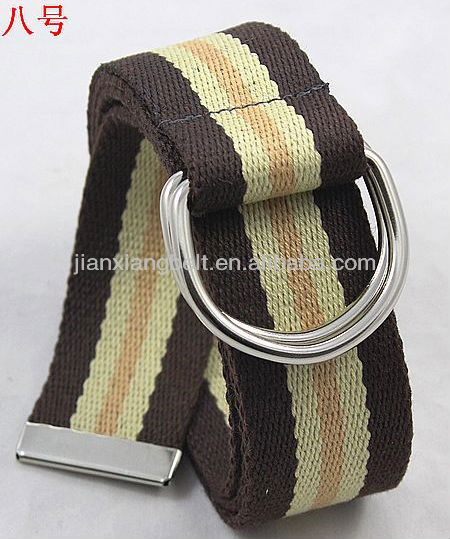 "Custom Double D-Ring Cotton Canvas Army military Web Golf Belt Wholesale 1-1/2"" Wide 4038"