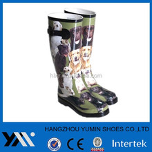 cute rubber boots girls with dog print