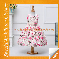 Baby girlds floral dresses baby birthday dress summer dress design patterns kids SHY-017