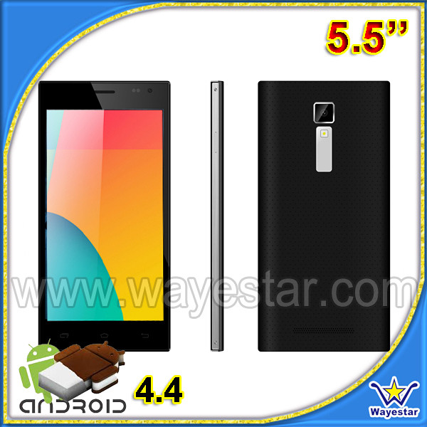 5.5inch 3G WCDMA android smart mobile, camera phone front 5mp back 13mp