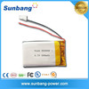 Sunb503040 polymer small rechargeable battery 3.7v 500mah with CE, MSDS, Rohs