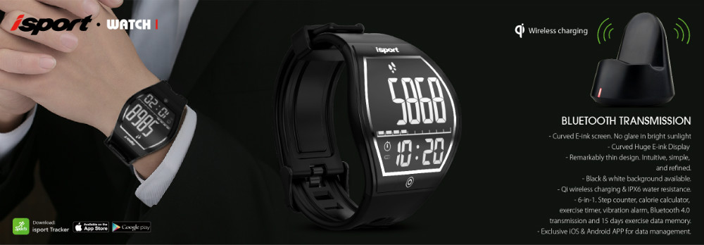 Brand New Sharp Design E Ink Steps and Calories Counter Fitness Watch