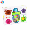 Best water game bath toy Cartoon ocean bath foam cup water vehicle combine toy set YX2806120