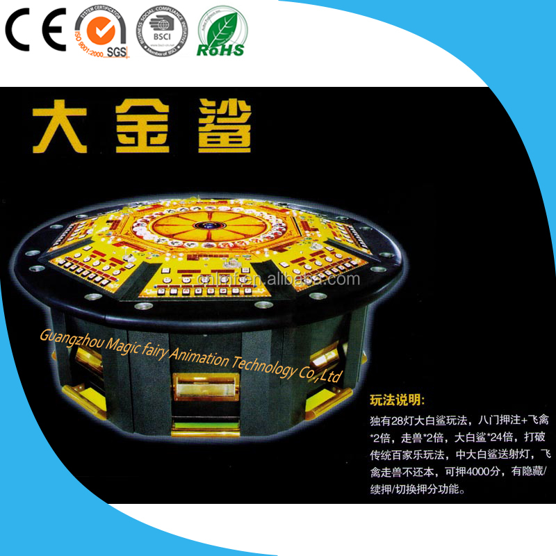 Electronic arcade coin pusher game machine Thailand video machine for Sale 6/8 Players