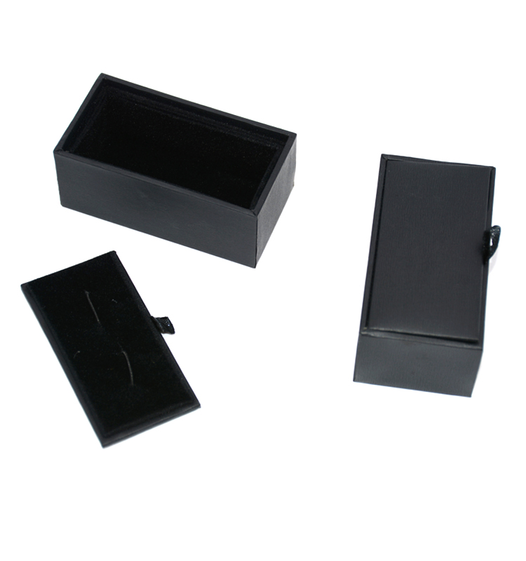 Hot sale Organizer <strong>Black</strong> Cufflink Gift Box New Storage Jewelry Packaging Boxes From China