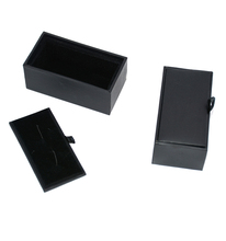 Hot sale Organizer Black Cufflink Gift Box New Storage Jewelry Packaging Boxes From China