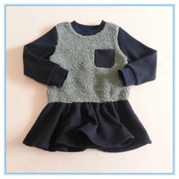Chldren girls winter woolen dress for girls, kids bodycon winter dresses, little girls casual fashion party dresses