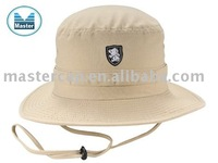 Khaki outdoor fishing bucket hat with Flat Embroidery
