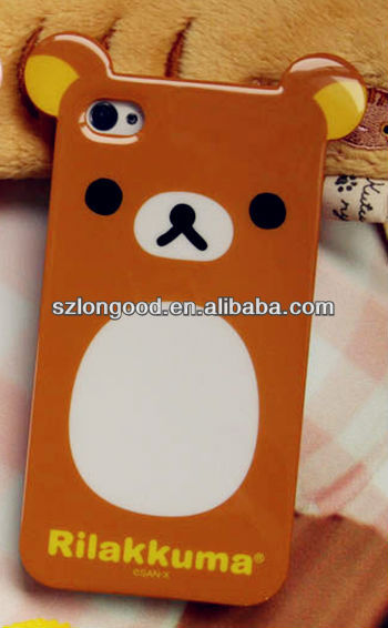 HEAD CASE TEDDY BEAR FULL FACE ANIMAL DESIGN BACK CASE FOR iPHONE 4 4S + free screen bear protector