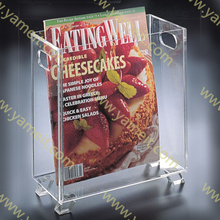 Clear Acrylic Leaflet Holder / Acrylic Countertop Magazine Holder