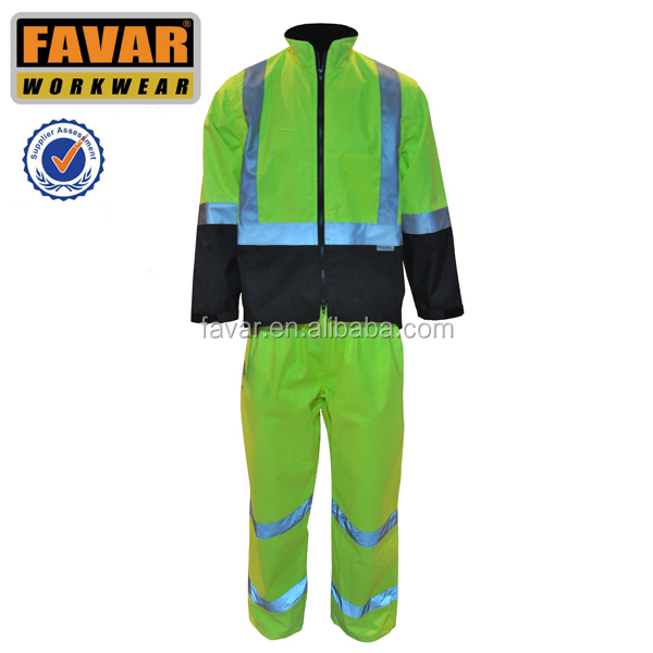 Waterproof winter reflective coveralls
