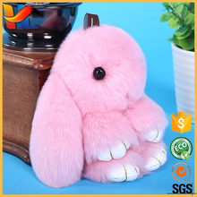 wholesale colorful plush furry <strong>toys</strong> for bag charm genuine rabbit fur bunny furry animal <strong>toys</strong>