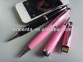 Factory price touch pen 3 in 1 stylus pen with usb drive