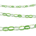 Green Polka Dot Paper Chain Garland Decorations Baby Shower Birthday Party Supplies