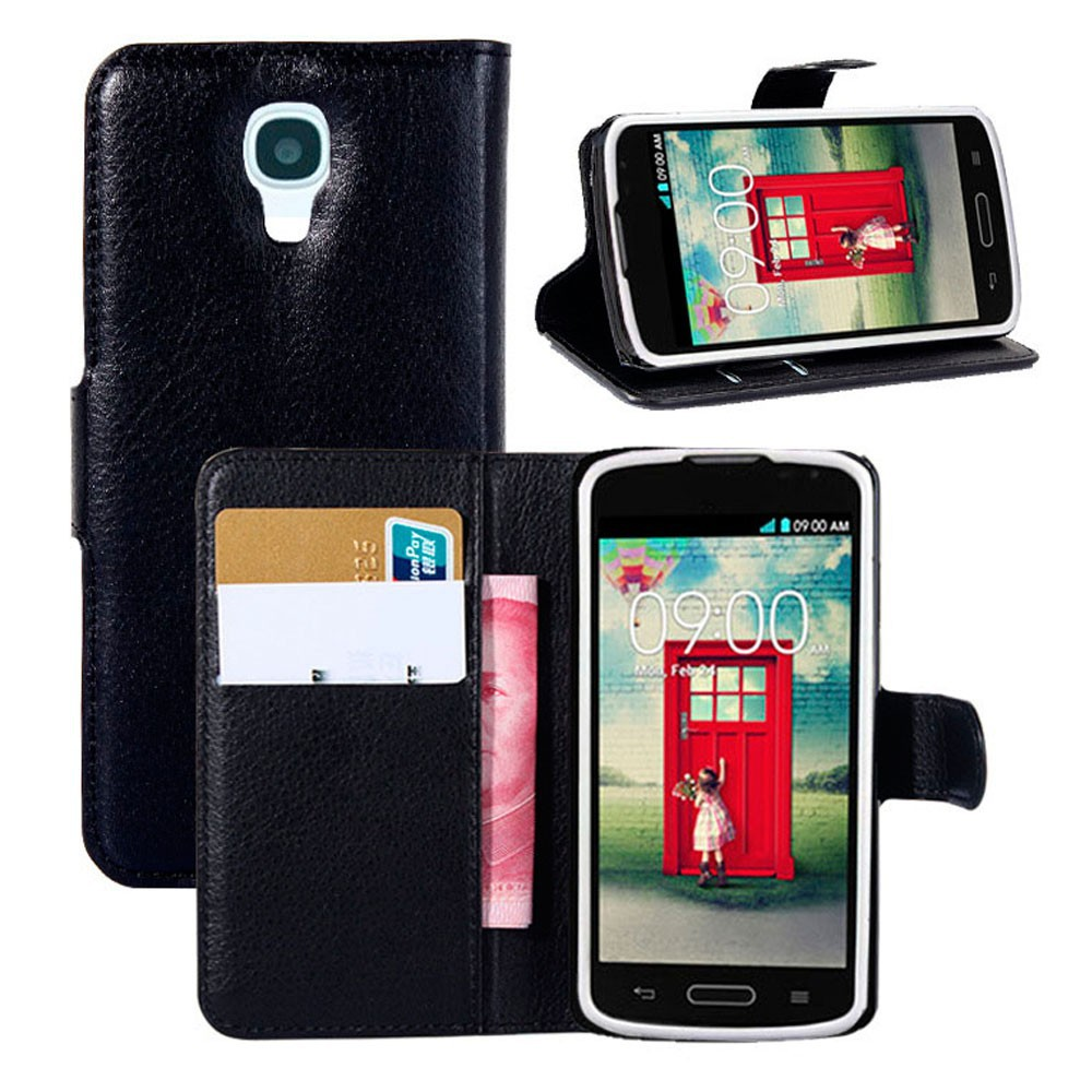 2014 New Arrival Luxury Real Leather wallet cover case For LG F70 D315
