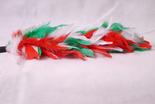Christmas cat teaser dangler , design feather cat teaser