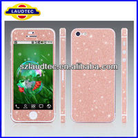 Laudtec bling bling cover for iphone 5 back screen pretector for iPhone 5S