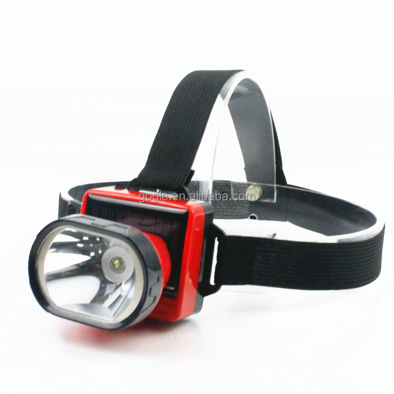900T 1W high quality Solar head lamp rechargeable Solar head lamp